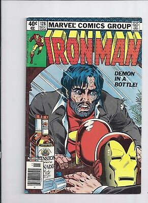 Marvel  Iron Man #128  Demon in a Bottle Story Alcoholism cover VF!