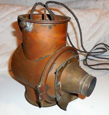 Antique Magic Lantern Electric Projector ~ Brass / Copper ~ made in France
