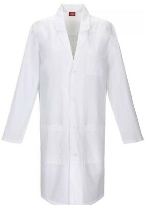 Dickies Everyday Scrubs Unisex 40 Inch Lab Coat Dickies White Medium