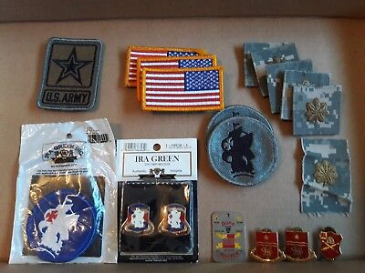 Lot / assortment of miscellaneous U.S. Army military patches & pins