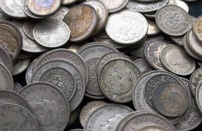 BEST PREMIUM 1/4 pound WORLD coin lot w/ GUARENTEED SILVER, ANCIENTS + 24K GOLD!