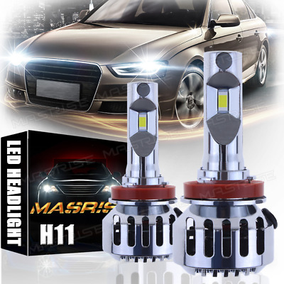 2Pcs White LED H11 Low Beam Headlight Bulb For 2008-2017 Freightliner Cascadia