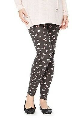 Maternity Oh Baby by Motherhood Secret Fit Belly Printed Leggings-NWT-Size S