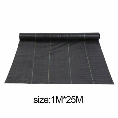 1M*25M Wide heavy duty Weed Control Fabric Ground Cover Membrane Landscape New