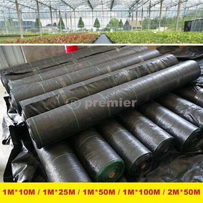 1x 100m Weed Control Fabric Ground Cover Membrane Landscape Mulch Garden Mats BY