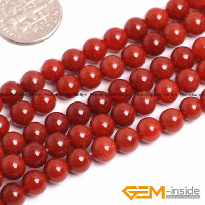 "Red Crackle Agate Gemstone Round Loose Spacer Beads For Jewelry Making 15""Strand"