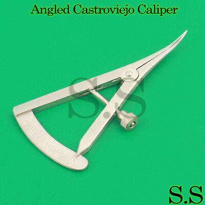 """10× Angled Castroviejo Caliper 0-20 mm Surgical 3.25"""" (8.3cm) Dental Instruments"""