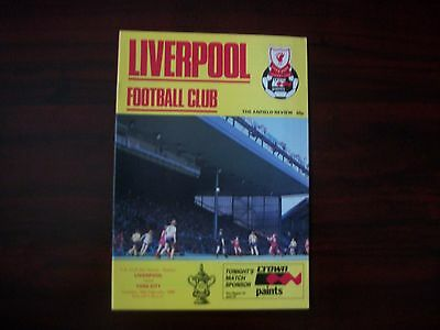 Liverpool v York City Programme FA Cup 5RR,18.2.1986
