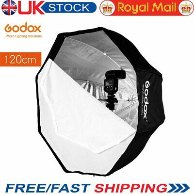 UK 120cm Godox Portable Octagon Softbox Umbrella Brolly Reflector For Flash