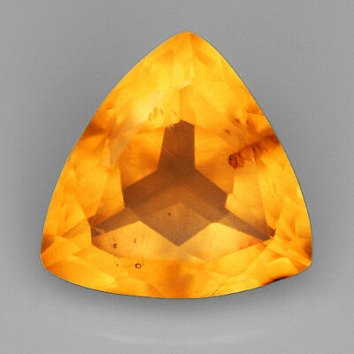 13.7CT Baltic Golden Amber With Insect Faceted Triangle Cut Natural UQFP156
