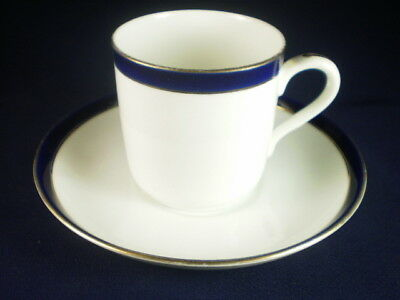 TUSCAN BLUE & WHITE DEMITASSE DUO c. 1906+