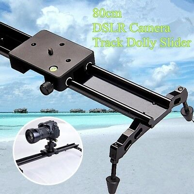 "Camera Slider Dolly Track Stabilizer 24"" 60cm + Case For DSLR DV Camcorder Video"