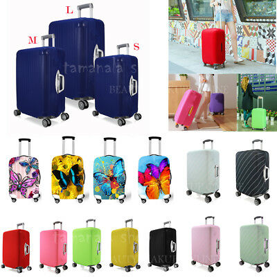 Elastic Suitcase Luggage Cover Butterfly/ Soild Designs - Large Medium Small