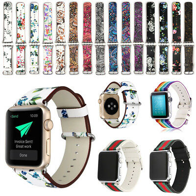 New Colorful Leather Band Strap & Adapter iWatch 38/42mm For Apple Watch Series