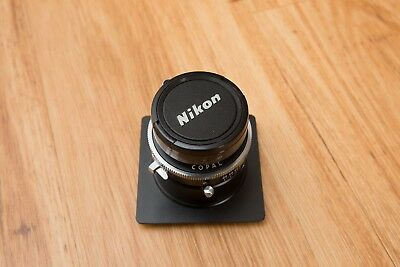 Fujinon-A 240mm f9 lens with Horseman lens board for 4x5 camera.