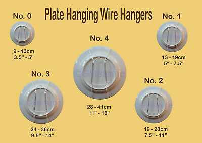 Flexible Wire Plate Wall Decor Display Spring Hanger Holder white Size 0,1,2,3,4