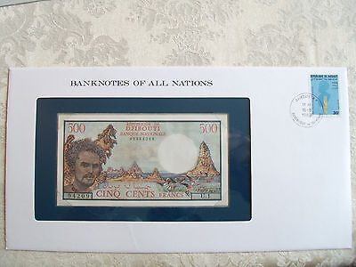 Banknotes of all Nations Djibouti 1979 500 Francs P36a UNC U.1 Birthday 01994209