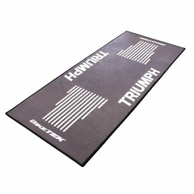 Biketek GRGMAT47 Motorcycle Bike Door Race Garage Mat Series 3 Triumph Logo