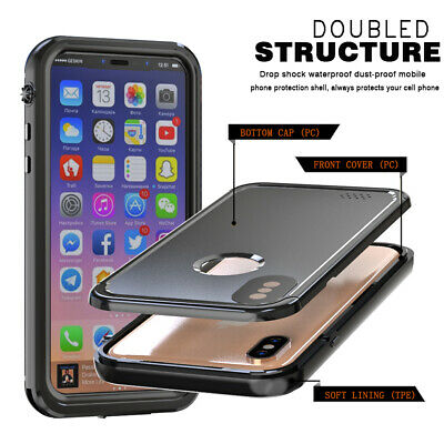 Custodia Cover Per Apple Iphone X Xs Impermeabile Subacquea Waterproof Antiurto