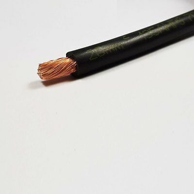 20mm2 Black Flexible PVC Battery Welding Cable 135 A Amps 1M 1 M Length Car Auto