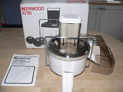KENWOOD CHEF - Continuous Juice Separator A735 ( Fits A701, A701) Ex Condition.