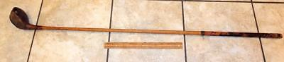 Antique A G Spalding DUNDEE Wood Driver Golf Club Hickory Right Handed !!