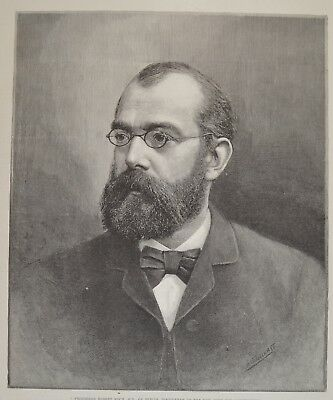 Robert Koch Cure for Consumption Tuberkulose 1890 Illustrated London News 40x26