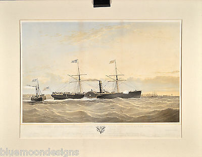 United States Mail Steam Ship Atlantic S. Walters 1855 Post Dampfschiff 50 x 70