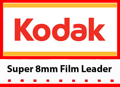 Kodak's 'NEW' Super 8mm White/Grey Movie Film Leader 50ft reel (LOWEST PRICE)