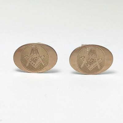 Vintage Gold-Filled Masonic Cufflinks (#732)