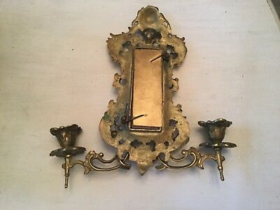 Vintage French Cherub Brass Sconce