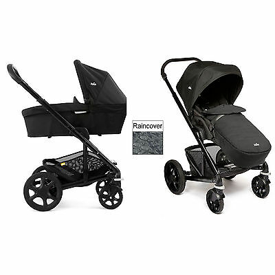 New Joie Chrome Plus Carrycot & Pushchair Black Frame - Black