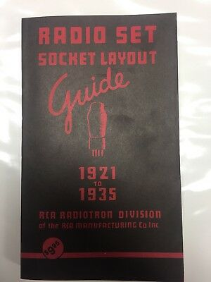RCA Radio Set Tube Socket Layout Guide 1921-1935 - Reprint