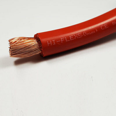 50mm2 Red Flexible PVC Battery Welding Cable 10 Metre 10 M ROLL 345 A Amps