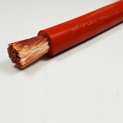 70mm2 Red Flexible PVC Battery Welding Cable 10 Metre 10 M ROLL 485 A Amps
