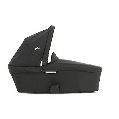 New Joie Black Carbon Chrome Plus Carrycot From Birth With Mattress & Raincover