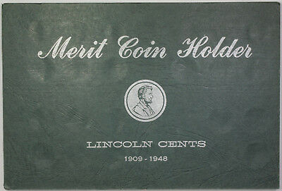 Meghrig Empty Lincoln Cents 1909-1948 Merit Coin Holder Green Album M-5