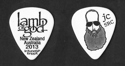 Lamb of God black on white Guitar Pick #5