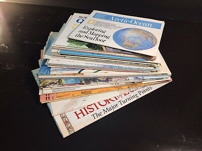 HUGE Lot = 30 NATIONAL GEOGRAPHIC MAPS Vintage 1982 - 1988 - Excellent Condition