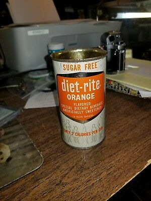 Vintage Diet Rite orange soda can