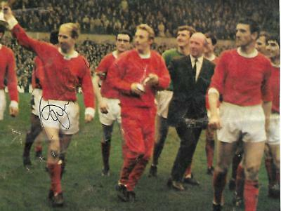 Signed Bobby Charlton Manchester United 1968 European England 1966 World Cup +
