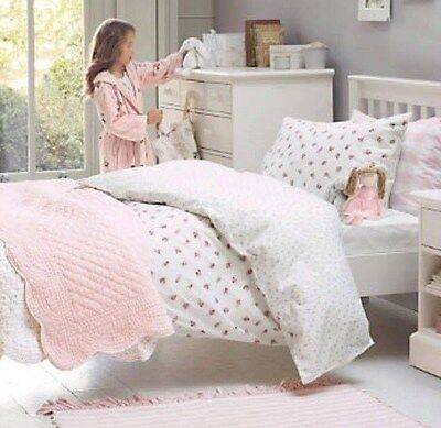 The Little White Company Rose Garden pink floral single bed linen set RRP £45.00