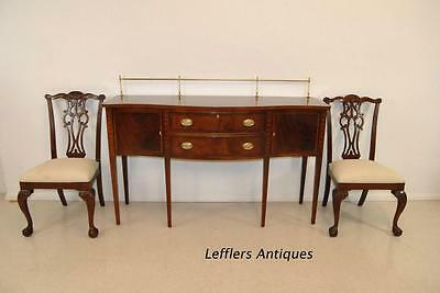 Ethan Allen Hepplewhite Mahogany Sideboard with Brass Gallery