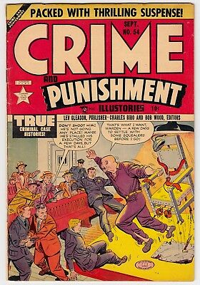 Crime And Punishment #54 Lev Gleason 1952 Pre-Code Electric Chair Cover Vg+
