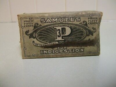 Samuel's 3P for Indigestion Box, has contents, Helps Body, Brain & Nerve's.