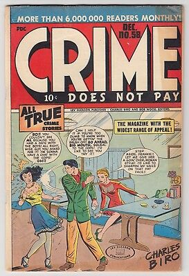 Crime Does Not Pay #58 Lev Gleason 1947 Man Slapping Woman Cover G/vg 3.0