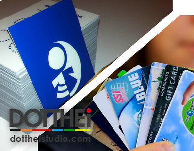 Printed Plastic Business Cards • Full Colour PVC like bank/credit card • LOGO