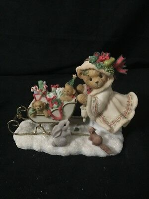Cherished Teddies ASTRID Christmas Figurine Excellent Condition 2001 Enesco
