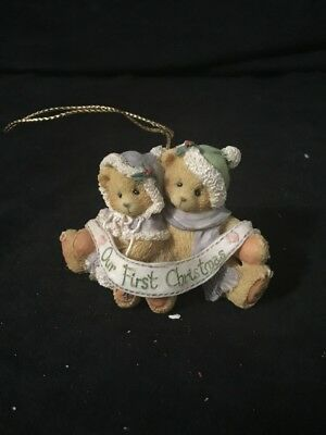 Cherished Teddies 1995 Christmas Ornament Our First Christmas