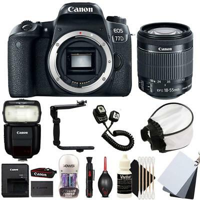 Canon EOS 77D DSLR Camera with 18-55mm STM Lens , 430EX lll Non RT Flash and Kit